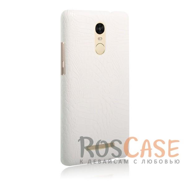 Кожаный чехол с узором из крокодиловой кожи Croc Series для Xiaomi Redmi Note 3 / Redmi Note 3 Pro (Белый)<br><br>Тип: Чехол<br>Бренд: Epik<br>Материал: Искусственная кожа