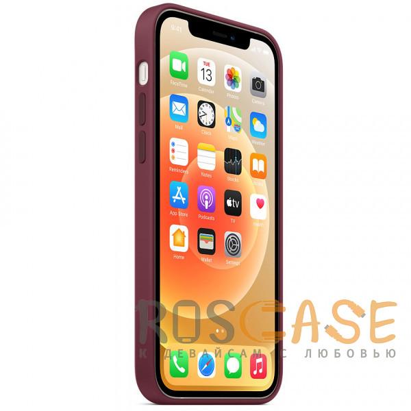 Изображение Бордовый Силиконовый чехол Silicone Case с микрофиброй для iPhone 12 Mini