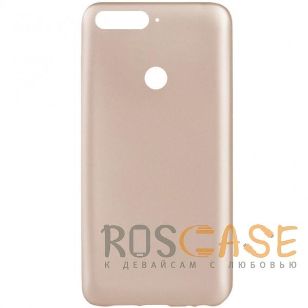 Фото Золотой J-Case THIN | Гибкий силиконовый чехол для Huawei Y7 Prime