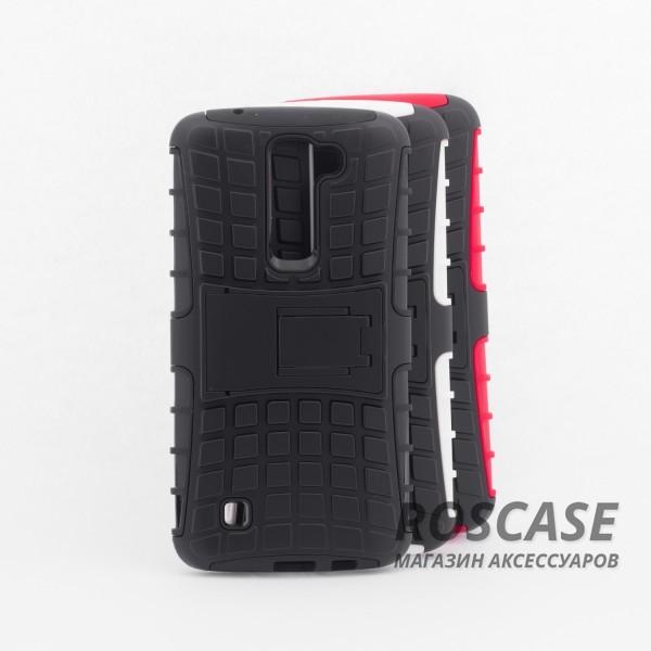Противоударный двухслойный чехол Shield для LG K7 X210 с подставкойОписание:разработан специально для LG K7 X210;материалы: поликарбонат, термополиуретан;тип: накладка.&amp;nbsp;Особенности:двухслойный;ударопрочный;оригинальный дизайн;стильный дизайн;в наличии все функциональные вырезы;функция подставки.<br><br>Тип: Чехол<br>Бренд: Epik<br>Материал: TPU