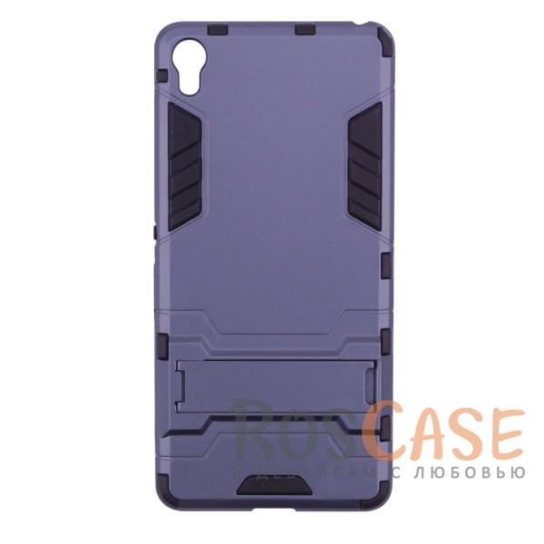 Ударопрочный чехол-подставка Transformer для Sony Xperia XA / XA Dual с мощной защитой корпуса (Серый / Metal slate)Описание:чехол разработан для Sony Xperia XA / XA Dual;материалы - термополиуретан, поликарбонат;тип - накладка;функция подставки;защита от ударов;прочная конструкция;не скользит в руках.<br><br>Тип: Чехол<br>Бренд: Epik<br>Материал: Поликарбонат