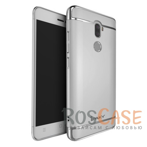 Изящный чехол iPaky (original) Joint с глянцевой вставкой цвета металлик для Xiaomi Mi 5s Plus (Серебряный)Описание:совместим с Xiaomi Mi 5s Plus;бренд - iPaky;материал - поликарбонат;тип - накладка.<br><br>Тип: Чехол<br>Бренд: iPaky<br>Материал: Поликарбонат