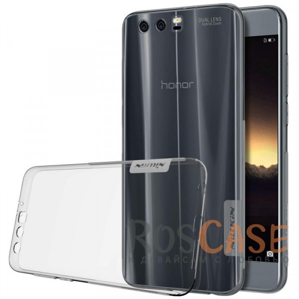 Мягкий прозрачный силиконовый чехол для Huawei Honor 9 (Серый (прозрачный))Описание:производитель  -  бренд&amp;nbsp;Nillkin;совместим с Huawei Honor 9;материал  -  термополиуретан;тип  -  накладка.&amp;nbsp;Особенности:в наличии все вырезы;не скользит в руках;тонкий дизайн;защита от ударов и царапин;прозрачный.<br><br>Тип: Чехол<br>Бренд: Nillkin<br>Материал: TPU