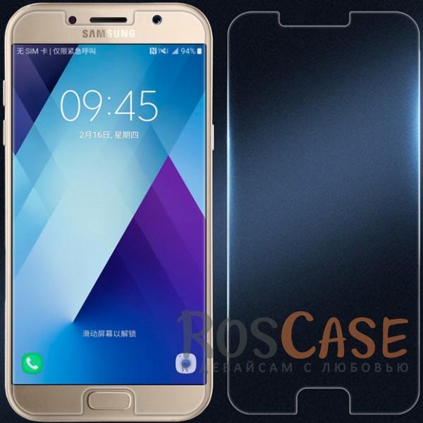 Ультратонкое антибликовое защитное стекло с олеофобным покрытием анти-отпечатки для Samsung A320 Galaxy A3 (2017)Описание:компания&amp;nbsp;Nillkin;подходит для Samsung A320 Galaxy A3 (2017);материал: закаленное стекло;тип: стекло на экран.<br><br>Тип: Защитное стекло<br>Бренд: Nillkin