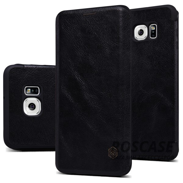 Кожаный чехол (книжка) Nillkin Qin Series для Samsung Galaxy S6 Edge Plus (Черный)Описание:производитель:&amp;nbsp;Nillkin;совместим с Samsung Galaxy S6 Edge Plus;материал: натуральная кожа;тип: чехол-книжка.&amp;nbsp;Особенности:слот для визиток;ультратонкий;фактурная поверхность;внутренняя отделка микрофиброй.<br><br>Тип: Чехол<br>Бренд: Nillkin<br>Материал: Натуральная кожа