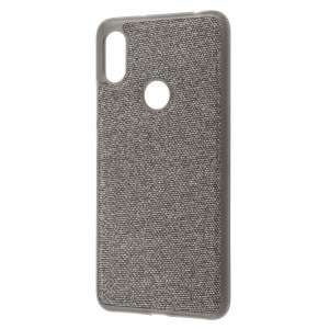 Fiber Logo | TPU чехол с текстильным покрытием для Xiaomi Redmi Note 6 Pro