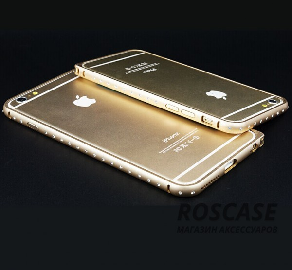 """Фото Алюминиевый бампер со стразами (защелка) для Apple iPhone 6/6s (4.7"""")"""