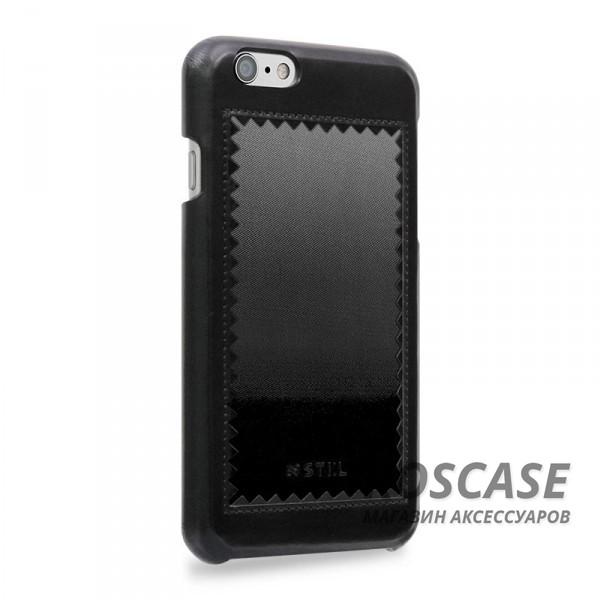 """Фотография Черный STIL Horizon   Кожаный чехол для Apple iPhone 6/6s (4.7"""") с зигзагообразной окантовкой"""