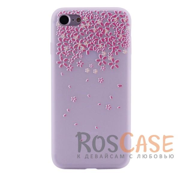 Женский силиконовый матовый чехол с оригинальным принтом и покрытием soft touch для Apple iPhone 7 / 8 (4.7) (Цветы Розовый)Описание:разработан с учетом особенностей&amp;nbsp;Apple iPhone 7 / 8 (4.7);материал - силикон;матовая поверхность;не скользит в руках;на нем не заметны отпечатки пальцев;предусмотрены все функциональные вырезы;оригинальный рисунок;формат - накладка.<br><br>Тип: Чехол<br>Бренд: Epik<br>Материал: TPU