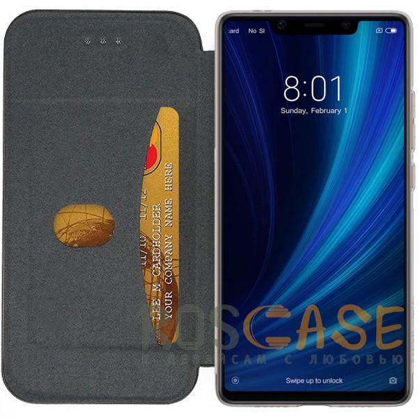 Фотография Черный Open Color 2 | Чехол-книжка на магните для Xiaomi Mi 8 SE с подставкой и внутренним карманом