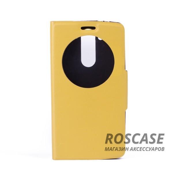 Чехол (книжка) с TPU креплением для LG D724/D722 G3S (Желтый)<br><br>Тип: Чехол<br>Бренд: Epik<br>Материал: Искусственная кожа