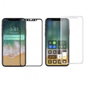 """Защитное стекло с цветной рамкой на весь экран для Apple iPhone X (5.8"""")"""