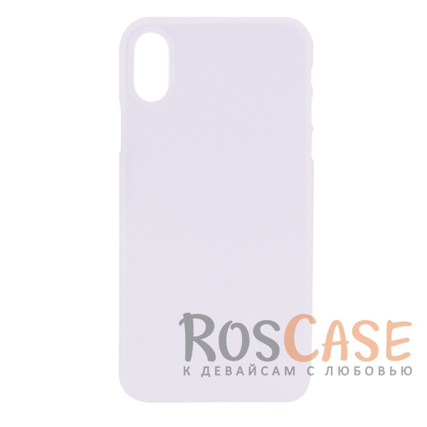 ROCK Naked Shell | Ультратонкий чехол для Apple iPhone X (5.8) (Бесцветный / Transparent)Описание:производитель -&amp;nbsp;Rock;совместимость - Apple iPhone X (5.8);материал - гибкий пластик;тонкий дизайн - 0,45 мм;матовая поверхность;защитные бортики вокруг камеры;формат - накладка;защита от царапин, потертостей и сколов;на чехле не заметны отпечатки пальцев;не скользит в руках;предусмотрены все функциональные вырезы.<br><br>Тип: Чехол<br>Бренд: ROCK<br>Материал: Пластик
