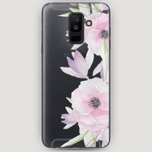 RosCase | Силиконовый чехол Нежные анемоны на Samsung Galaxy A6 Plus (2018)