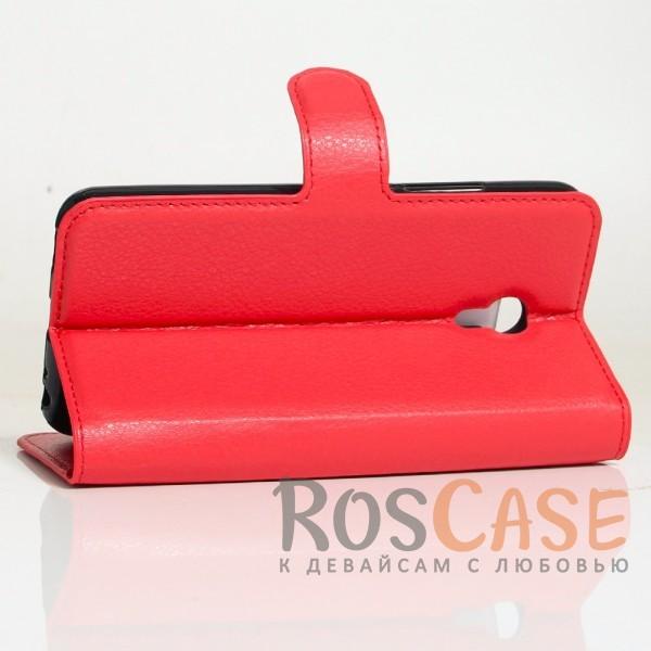 Изображение Красный Wallet | Кожаный чехол-кошелек с внутренними карманами для Meizu M5