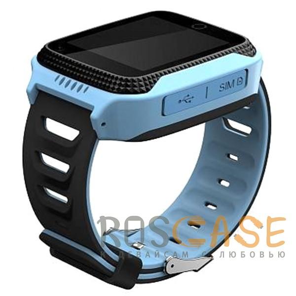 Фотография Синий Умные детские часы Smart Baby Watch T7