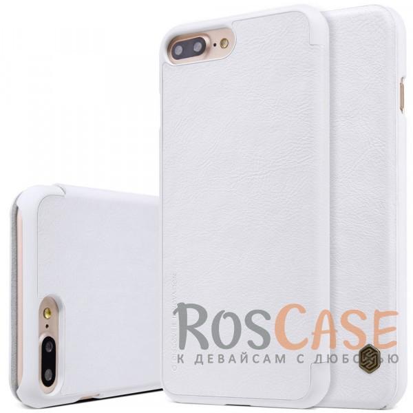 Кожаный чехол (книжка) Nillkin Qin Series для Apple iPhone 7 plus (5.5) (Белый)Описание:производитель:&amp;nbsp;Nillkin;совместим с Apple iPhone 7 plus (5.5);материал: натуральная кожа;тип: чехол-книжка.&amp;nbsp;Особенности:защита от механических повреждений;ультратонкий;фактурная поверхность;внутренняя отделка микрофиброй.<br><br>Тип: Чехол<br>Бренд: Nillkin<br>Материал: Искусственная кожа