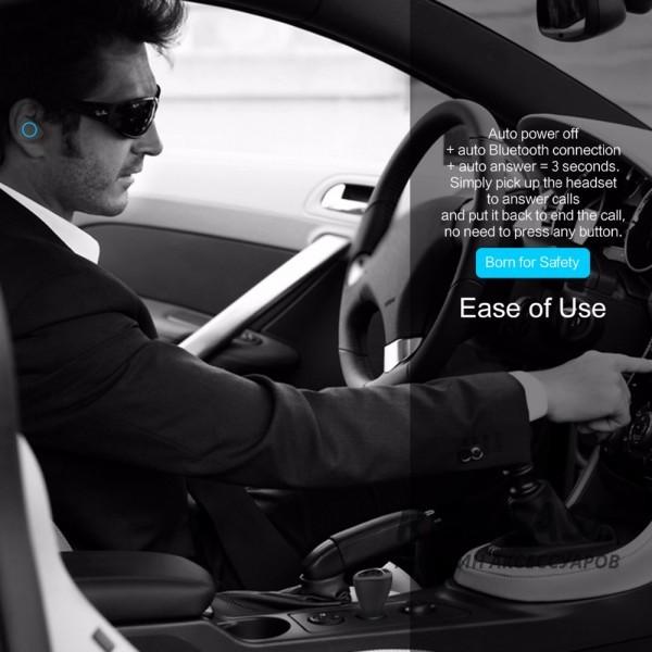 Фото Черный Rock Muca | Автокомплект громкой связи гарнитура Bluetooth + автомобильное зарядное устройство