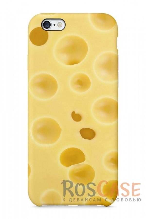 "Фото Сыр Пластиковый чехол RosCase ""Еда"" для iPhone 6/6s (4.7"")"