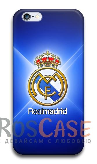 """Фото Реал Мадрид Пластиковый чехол RosCase """"Футбольные команды"""" для iPhone 5C"""