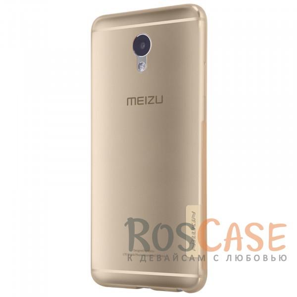 Фото Золотой (прозрачный) Nillkin Nature | Силиконовый чехол для Meizu M5 Note