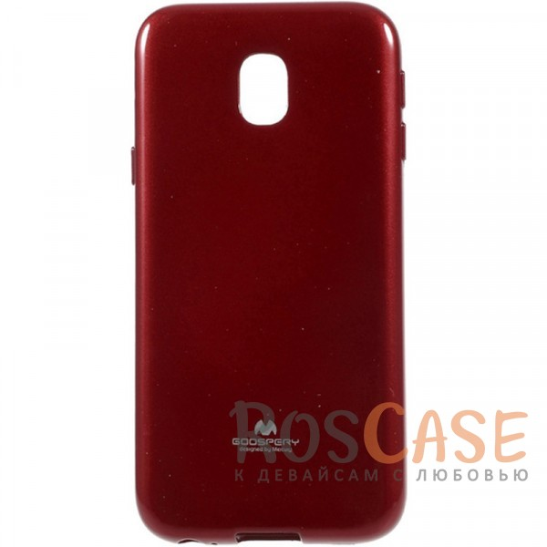 Яркий гибкий силиконовый чехол Mercury Color Pearl Jelly для Samsung J530 Galaxy J5 (2017) (Красный)Описание:производитель:&amp;nbsp;Mercury;разработан для Samsung J530 Galaxy J5 (2017);материал: термополиуретан;тип: накладка;защита задней панели и боковых граней;предусмотрены все функциональные вырезы;блестящие вкрапления;гибкий, легко устанавливается.<br><br>Тип: Чехол<br>Бренд: Mercury<br>Материал: TPU