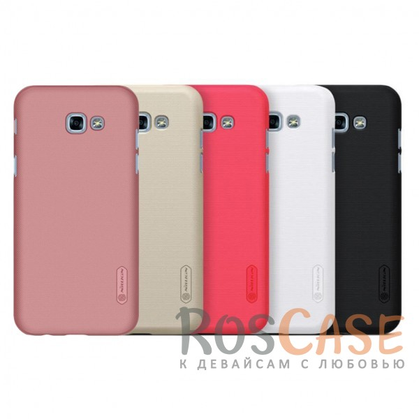 Матовый чехол для Samsung A720 Galaxy A7 (2017) (+ пленка)Описание:бренд&amp;nbsp;Nillkin;совместим с Samsung A720 Galaxy A7 (2017);материалы: поликарбонат;тип: накладка.<br><br>Тип: Чехол<br>Бренд: Nillkin<br>Материал: Поликарбонат