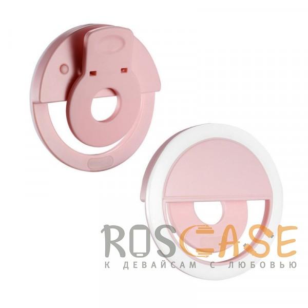 Фотография Розовый Selfie Ring Light   Светодиодное кольцо для селфи с кнопкой переключения яркости