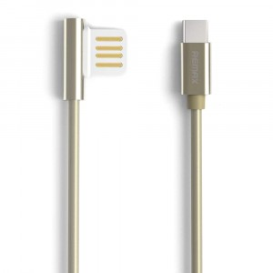 Remax Emperor | Дата кабель USB to Type-C с угловым штекером USB (100 см) для Meizu Pro 7