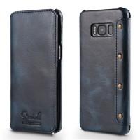 Кожаный чехол-книжка для Samsung G955 Galaxy S8 Plus с внутренним карманом