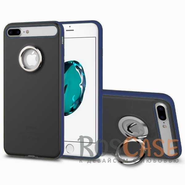 TPU+PC чехол Rock Ring Holder Case M2 Series для Apple iPhone 7 plus (5.5) (Синий / Blue)Описание:произведен компанией&amp;nbsp;Rock;разработан для Apple iPhone 7 plus (5.5);материалы: термополиуретан и поликарбонат;тип: накладка.<br><br>Тип: Чехол<br>Бренд: ROCK<br>Материал: TPU