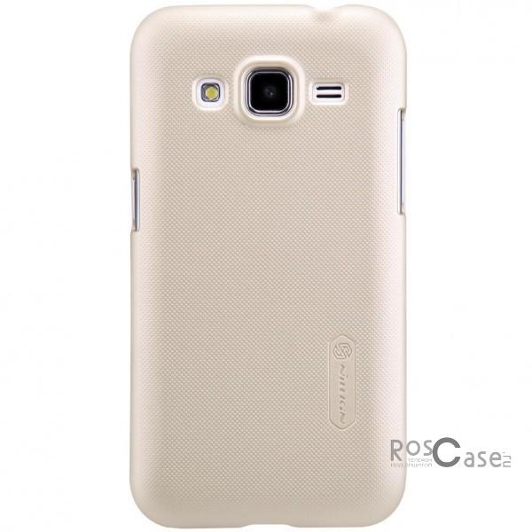 Чехол Nillkin Matte для Samsung G360H/G361H Galaxy Core Prime Duos (+ пленка) (Золотой)Описание:Чехол изготовлен компанией&amp;nbsp;Nillkin;Спроектирован для Samsung G360H/G361H Galaxy Core Prime Duos;Материал  -  поликарбонат;Форма  -  накладка.Особенности:Исключено появление потертостей и возникновение царапин;В комплекте поставляется глянцевая бесцветная пленка;Имеет текстурную матовую поверхность;Выполнен в изысканном классическом стиле.<br><br>Тип: Чехол<br>Бренд: Nillkin<br>Материал: Поликарбонат