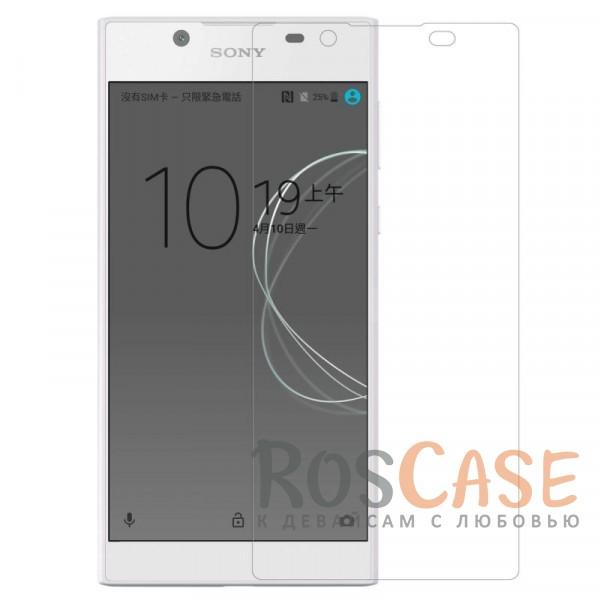 Прозрачная глянцевая защитная пленка на экран с гладким пылеотталкивающим покрытием для Sony Xperia L1 Dual (Анти-отпечатки)Описание:бренд&amp;nbsp;Nillkin;совместимость - Sony Xperia L1 Dual;материал: полимер;тип: прозрачная пленка;ультратонкая;не влияет на чувствительность экрана;защита от царапин и потертостей;фильтрует УФ-излучение;размер пленки -&amp;nbsp;146,7*69,1 мм.<br><br>Тип: Защитная пленка<br>Бренд: Nillkin
