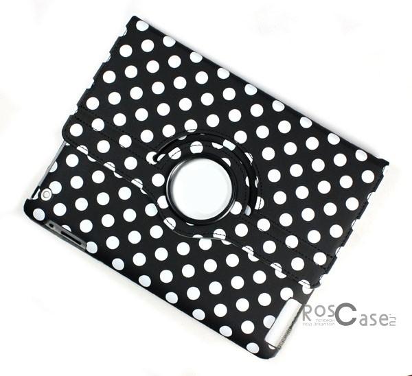 Фото чехла TTX Polka Dots (360 градусов) для Apple Ipad 3 - вид сзади черный в горошек