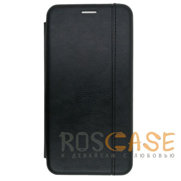 Фото Черный Open Color 2   Чехол-книжка на магните для Samsung Galaxy Note 10 Plus с подставкой и карманом