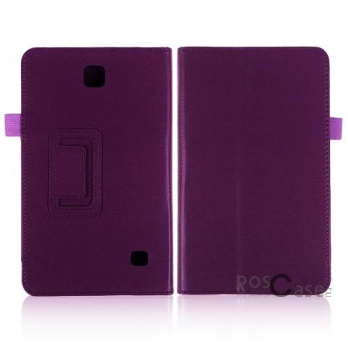 Кожаный чехол-книжка TTX c функцией подставки для Samsung Galaxy Tab 4 7.0 (Сиреневый)Описание:разработка и изготовление&amp;nbsp;TTX;изготовлен из синтетической кожи;фактурная поверхность;внутри отделан микрофиброй;тип конструкции: чехол-книжка;совместим с Samsung Galaxy Tab 4 7.0.&amp;nbsp;Особенности:износостойкий;добротный классический дизайн;может выполнять функцию подставки;широкая палитра цветов;легко очищается.<br><br>Тип: Чехол<br>Бренд: TTX<br>Материал: Искусственная кожа