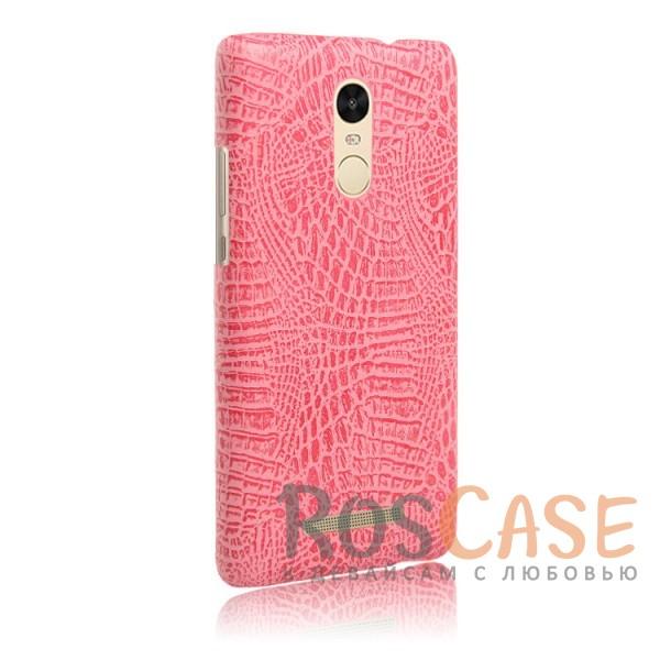 Кожаный чехол-накладка Croc с текстурой крокодиловой кожи для Xiaomi Redmi Note 3 / Redmi Note 3 Pro (Розовый)<br><br>Тип: Чехол<br>Бренд: Epik<br>Материал: Искусственная кожа