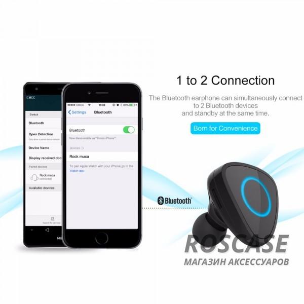Фотография Черный Rock Muca | Автокомплект громкой связи гарнитура Bluetooth + автомобильное зарядное устройство