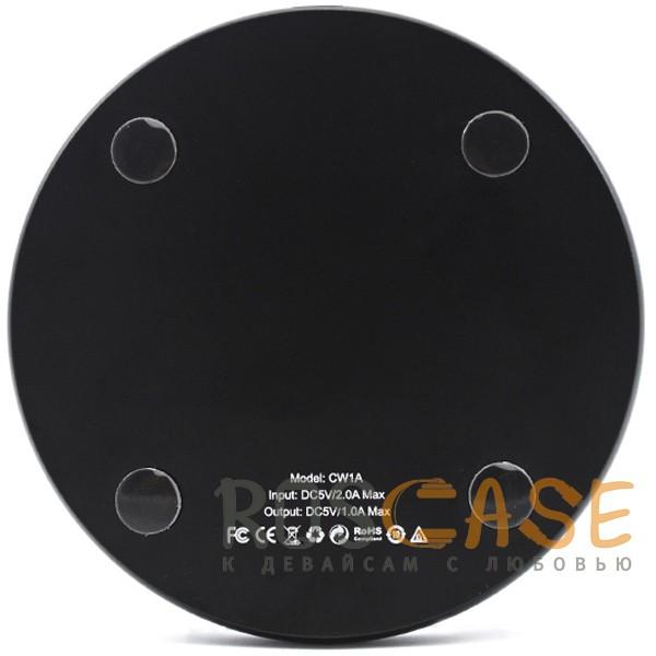 Фотография Черный HOCO CW1A | Беспроводное зарядное устройство + кабель microUSB