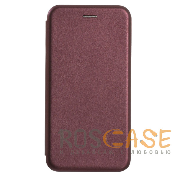 Фотография Бордовый Open Color | Чехол-книжка для Samsung Galaxy A50 / A50s / A30s с функцией подставки и магнитом