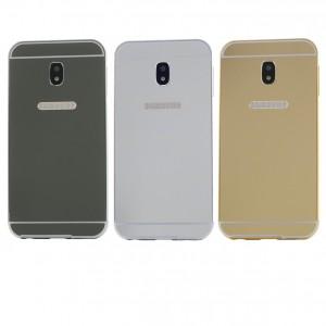 Металлический бампер для Samsung J530 Galaxy J5 (2017) с зеркальной вставкой