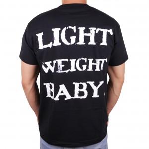 "Muscle Rabbit | Мужская футболка с принтом на спине ""Light weight baby"""