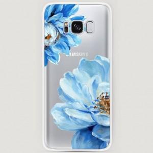 RosCase | Силиконовый чехол Голубые клематисы на Samsung G955 Galaxy S8 Plus