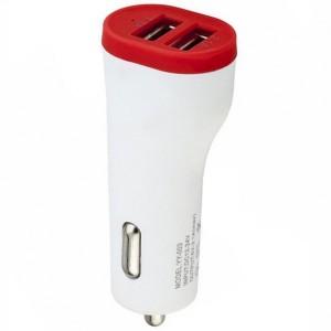 YY-003 | Автомобильное зарядное устройство с 2 USB портами (3.1A) и матовой поверхностью