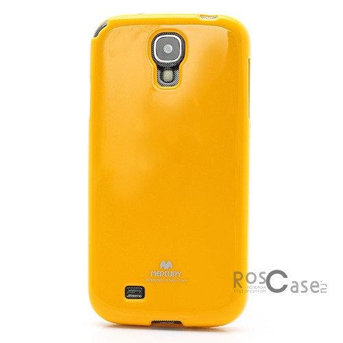 фото Желтый TPU чехол Mercury Jelly Color series для Samsung i9500 Galaxy S4