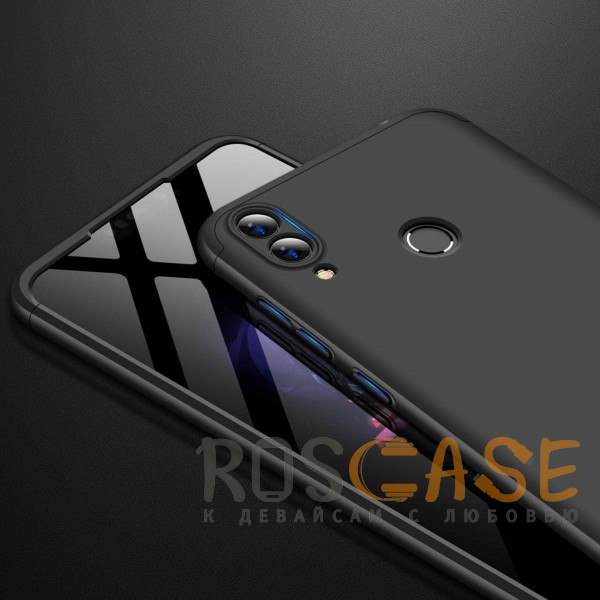 Фотография Черный GKK LikGus 360° | Двухсторонний чехол для Huawei Honor 8C с защитными вставками