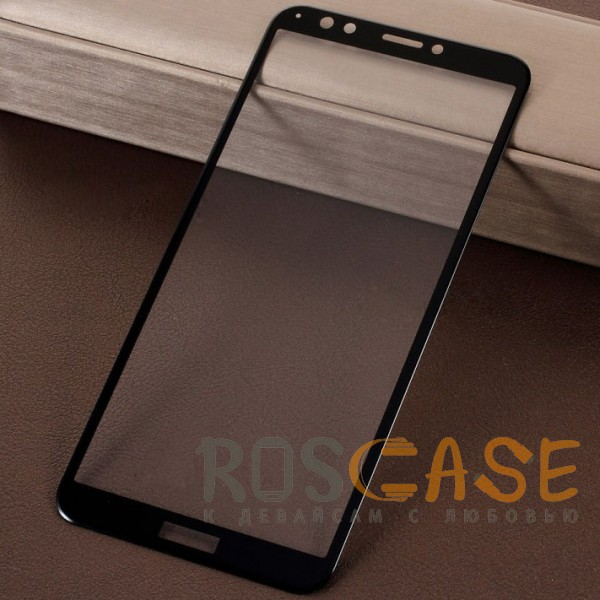 Caisles 5D | Гибкое защитное стекло для Huawei Y7 Prime (2018) / Honor 7C pro на весь экран (Черное)