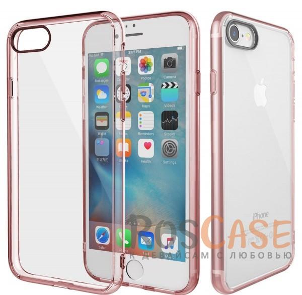 TPU+PC чехол Rock Pure Series для Apple iPhone 7 (4.7) (Розовый / Transparent pink)Описание:изготовлен компанией&amp;nbsp;Rock;совместим с Apple iPhone 7 (4.7);материалы  -  термополиуретан, поликарбонат;тип  -  накладка.&amp;nbsp;Особенности:ультратонкий;в наличии все функциональные вырезы;прозрачная;черная окантовка вокруг камеры для отсутствия блика от вспышки;не скользит в руках;рамка из поликарбоната;защита от царапин и ударов.<br><br>Тип: Чехол<br>Бренд: ROCK<br>Материал: TPU
