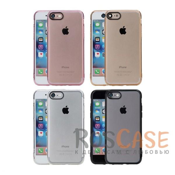 TPU+PC чехол Rock Pure Series для Apple iPhone 7 (4.7)Описание:изготовлен компанией&amp;nbsp;Rock;совместим с Apple iPhone 7 (4.7);материалы  -  термополиуретан, поликарбонат;тип  -  накладка.&amp;nbsp;Особенности:ультратонкий;в наличии все функциональные вырезы;прозрачная;черная окантовка вокруг камеры для отсутствия блика от вспышки;не скользит в руках;рамка из поликарбоната;защита от царапин и ударов.<br><br>Тип: Чехол<br>Бренд: ROCK<br>Материал: TPU