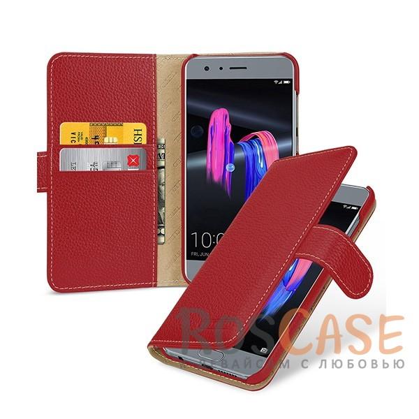 Прошитый чехол-книжка из натуральной кожи TETDED Gerzat с магнитной застежкой для Huawei Honor 9 (Красный / Red)Описание:бренд  - &amp;nbsp;Tetded;разработан для Huawei Honor 9;материал  -  натуральная кожа;тип  -  чехол-книжка.в наличии все функциональные вырезы;легко устанавливается;строчка по периметру;магнитная застежка;внутренние кармашки для визиток;защита от механических повреждений;на чехле не заметны следы от пальцев.<br><br>Тип: Чехол<br>Бренд: TETDED<br>Материал: Натуральная кожа
